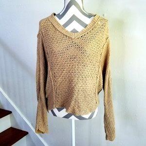 Free People knit beige sweater